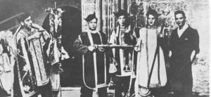 Antireligiöse Manifestation in Madrid waehrend des Bürgerkrieges 1936-39
